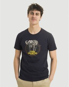 TEE-SHIRT NAVY BUFFALO