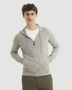 GILET GRIS CHINE CLAIR HOOD TOGS