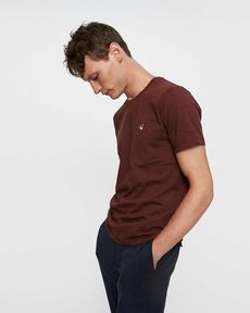 TEE-SHIRT BURGUNDY CHINE T-TOGS