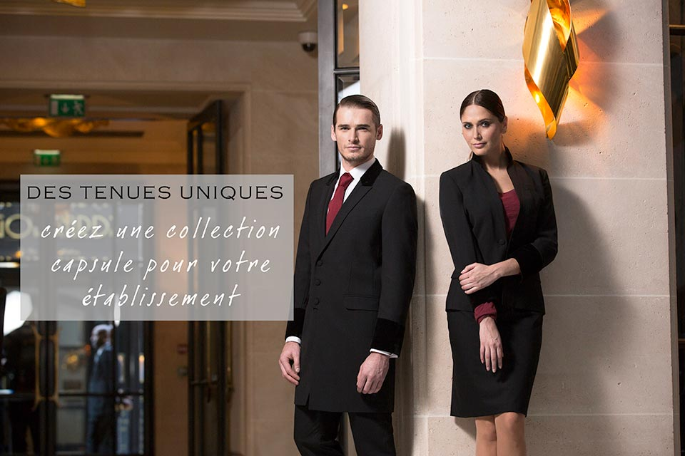 Chic at work uniforme luxe cr ation v tement d 39 image veste h tel restau - Uniforme femme de chambre hotel ...