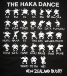 TEE SHIRT NOIR CHILD 100% COTTON HAKA DANCE 160GR PRINTED