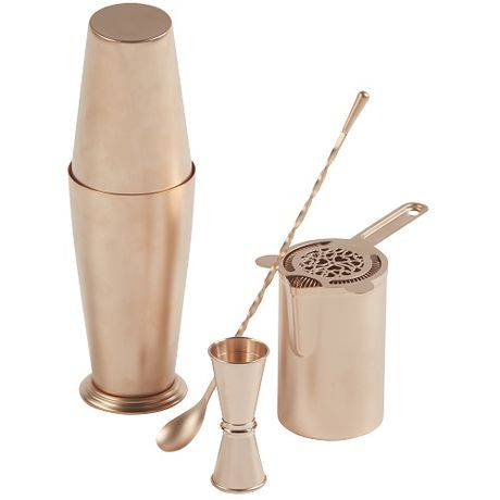 Matte Finish Rose Gold Plated Barware