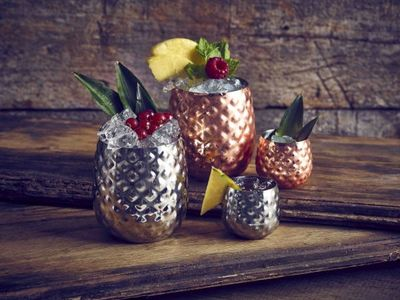 Pineapple Copper Cup 8cl