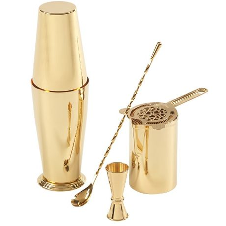 Mr Slim Mixing Cup Gold Plated 58cl