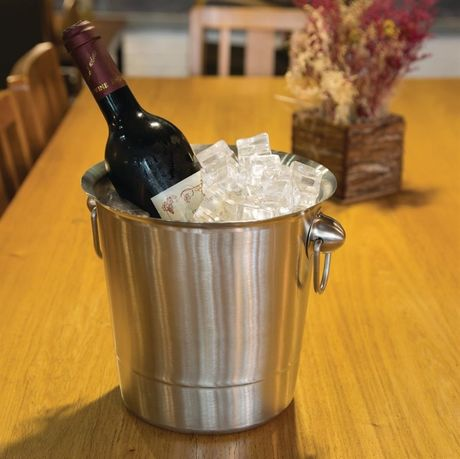 Stainless Steel Wine Bucket With Ring Handles