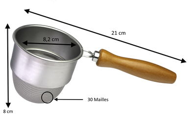Fine Strainer Deep with Wooden Handle