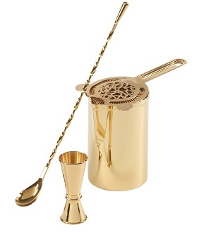 Premium Stirred Cocktail Set - Gold