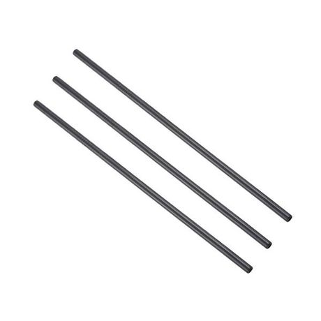 Metal Straw Black 6x215mm