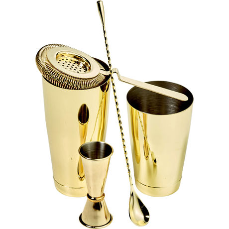 Gold Cocktail Kit - 5 Pieces