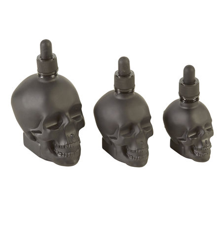 Skull Dropper Black Bottle