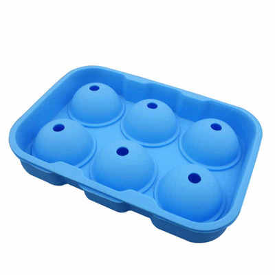 Silicone Ice Ball Mould Blue  - 6 Sphere