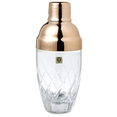 Glass Shaker Yarai Rose Gold Plated Cap 40cl