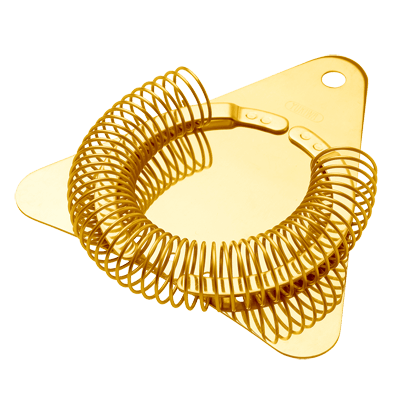 Cocktail Strainer Triangle Gold Plated Yukiwa