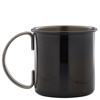 Straight Mug Gun Metal Black 50cl
