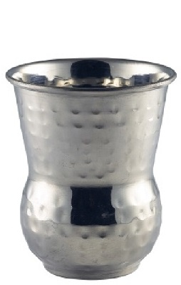 Moroccan Stainless Steel Hammered Tumbler 40cl