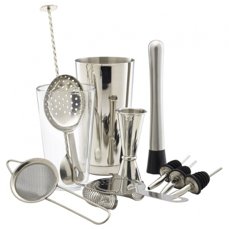 Kit Cocktail Barman Inox 11 Pièces