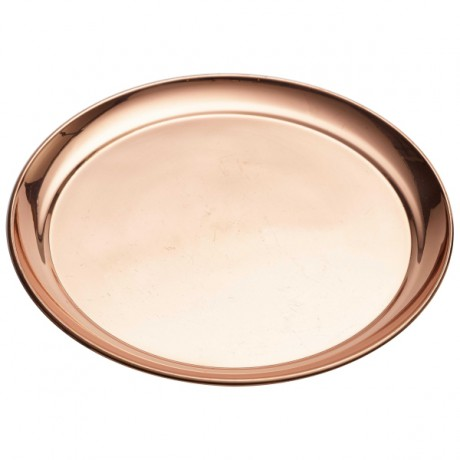 Copper Round Bar Tray 30cm