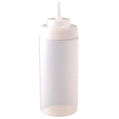 Squeeze Bottle Clear - Wide Neck