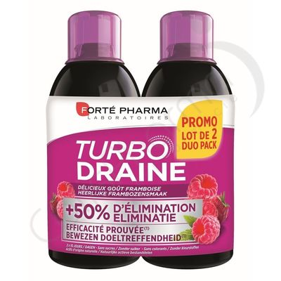 Forté Pharma - Minceur Turbodraine Framboise Duo Pack Promo