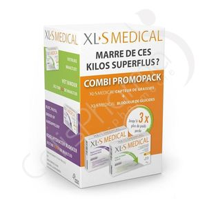 XLS Medical - Capteur de Graisses + Bloqueur de Glucides Promo Pack