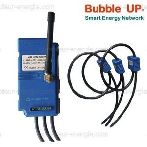 Bubble UP 169MHz LoRa Compteur Tri+N 100 à 2000A