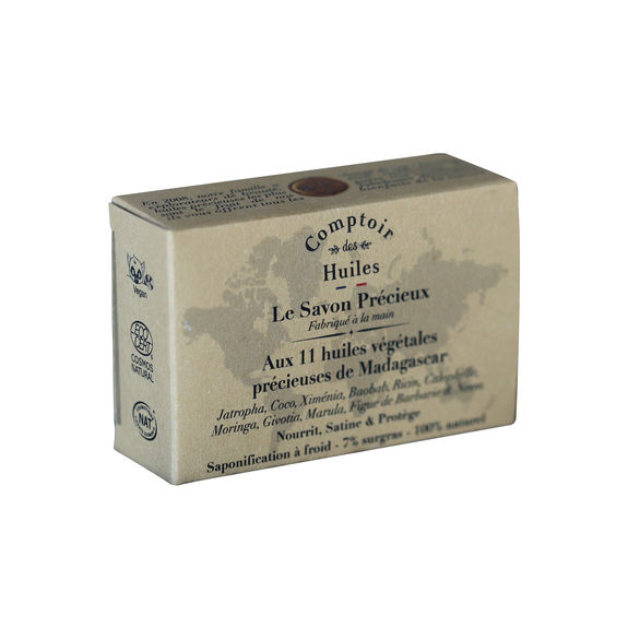 ''Savon precieux'' soap with 11 precious vegetable oils from Madagascar