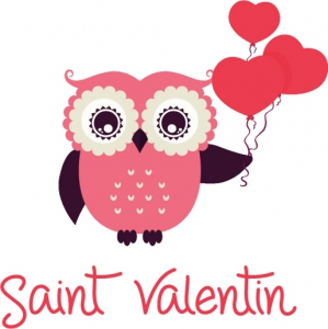 stickers hibou saint valentin. Black Bedroom Furniture Sets. Home Design Ideas