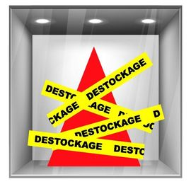 sticker destockage DE012