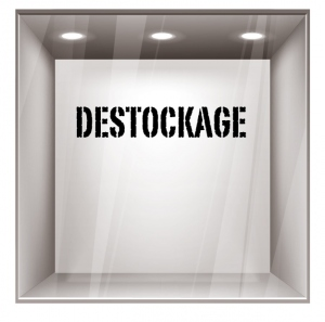 sticker destockage DE001