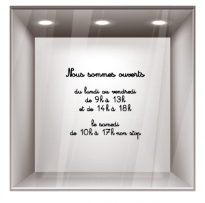sticker horaires Ho006