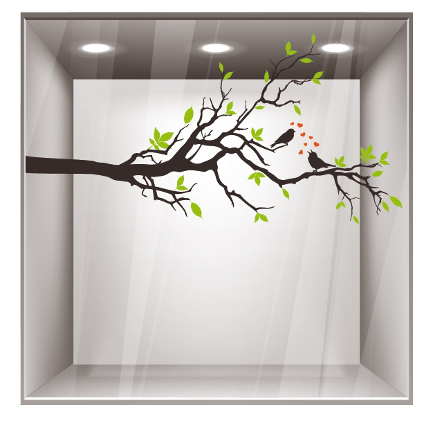Decoration branche d arbre maison design - Stickers branche d arbre ...