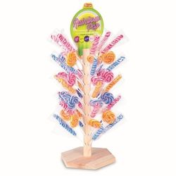 Fizzy Arbre Rainbow Pop de 100 sucettes foraines assorties