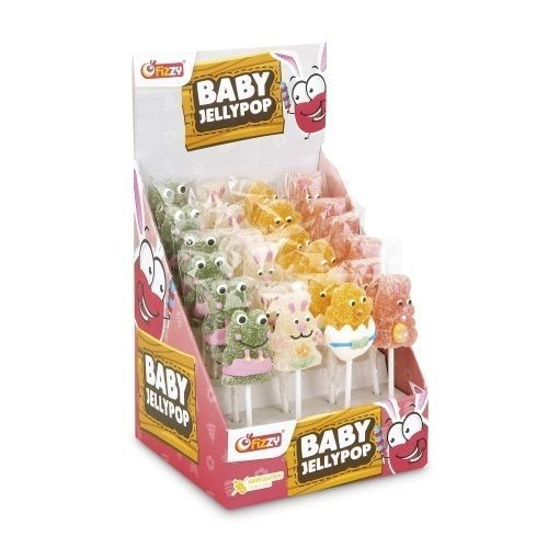 FIZZY tubo de 36 sucettes Baby Jelly Pop