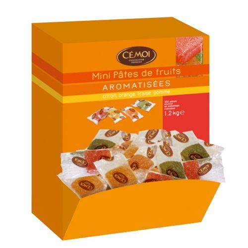 CÉMOI Distributeur de 200 mini pâtes de Fruits assorties de 6g