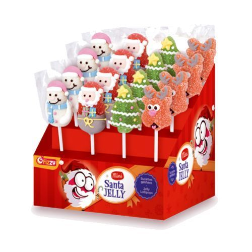 Fizzy Mini Santa Jelly x 24