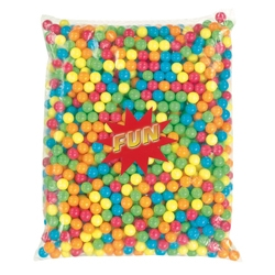 Billes de chewing-gum multicolores diamètre 14 mm en sac de 2.5 kg