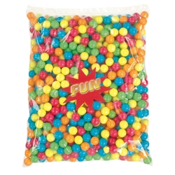 Billes de chewing-gum MEDIUM multicolores en sac de 2.5 kg