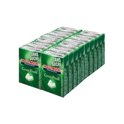 Hollywood Chewing-Gum GREEN FRESH en pack de 20 étuis x 10 dragées