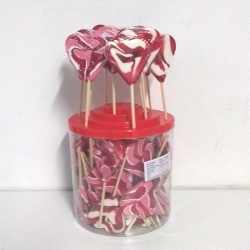 50 sucettes COEURS mini 25g assorties