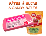 Pâte à sucre et Candy Melts