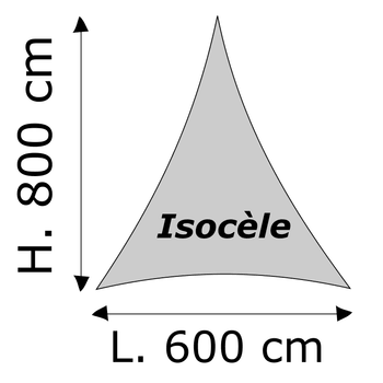 Triangle isocèle Lycra M1 Dimensions 600 x 800 cm Blanc