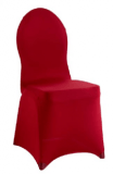 Housse de chaise Rouge Lycra extensible