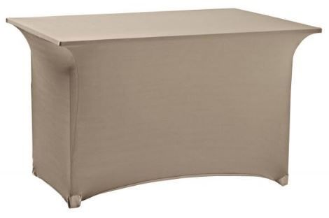 Housse de table Gris Taupe Lycra extensible