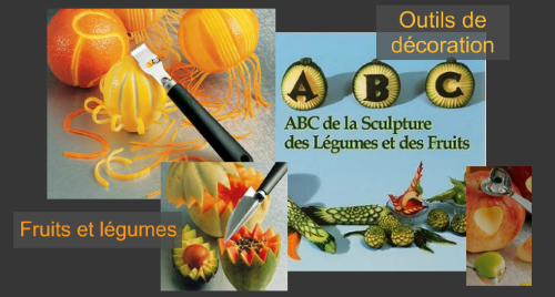 Fruits and vegetable decoration knives, tools