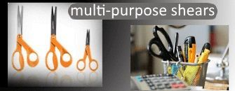 Universal shears, multi-purpose shears