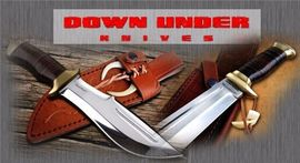 DOWN UNDER KNIVES, couteaux de chasse, bowies, made in USA