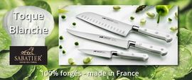 Forged kitchen knives Sabatier Ideal Toque Blanche