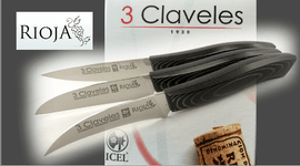 Kitchen knives 3 Claveles Rioja