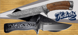 HERBERTZ, fixed blade knives, hunting, bowies