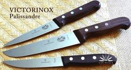 Victorinox Butcher or kitchen knives with wood handle